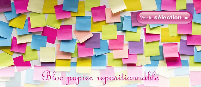 Bloc papier repositionnable